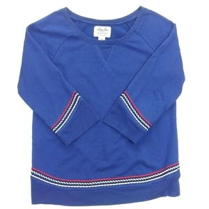 Lucky Lotus Scottsdale Crew Sweatshirt Blue Small